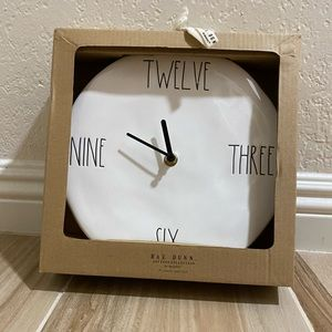 Rae Dunn Wall Clock - New in Box - 9 in
